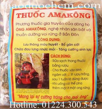 Mua bán thuốc amakong tại Long An có tác dụng chữa trị nhức mỏi gân cốt