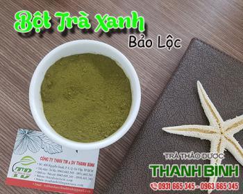 Công dụng trong làm đẹp da và lợi tiêu hóa của bột trà xanh Bảo Lộc