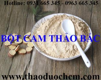 Địa chỉ bán bột cam thảo bắc thanh nhiệt giải độc tại Hà Nội uy tín nhất