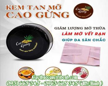 Mua bán cao gừng ở quận Phú Nhuận giúp khử mùi hôi uy tín tốt nhất