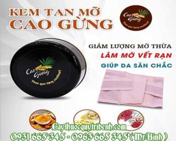 Mua bán cao gừng ở huyện Bình Chánh rất tốt trong việc làm tan mỡ bụng