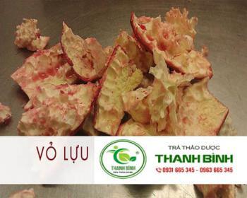 Mua bán vỏ lựu ở huyện Bình Chánh giúp giảm ho, cổ họng êm hết rát